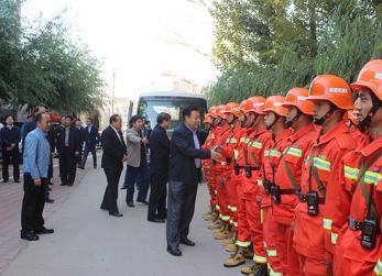 国家农业部副部长于康震到我县督察森林草原防火工作
